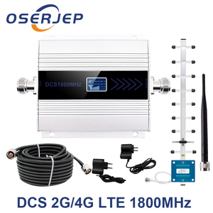 Image 1 - GSM Repeater 1800Mhz 4G Cellular Signal RepeaterCell Signal Amplifier booster DCS 1800 Mobile Phone Signal amplifier +Antenna