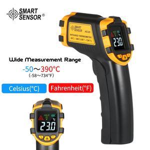 SMART SENSOR -50~390℃ Handheld Mini Digital Non-contact Industrial IR Infrared Thermometer Temperature Tester Pyrometer