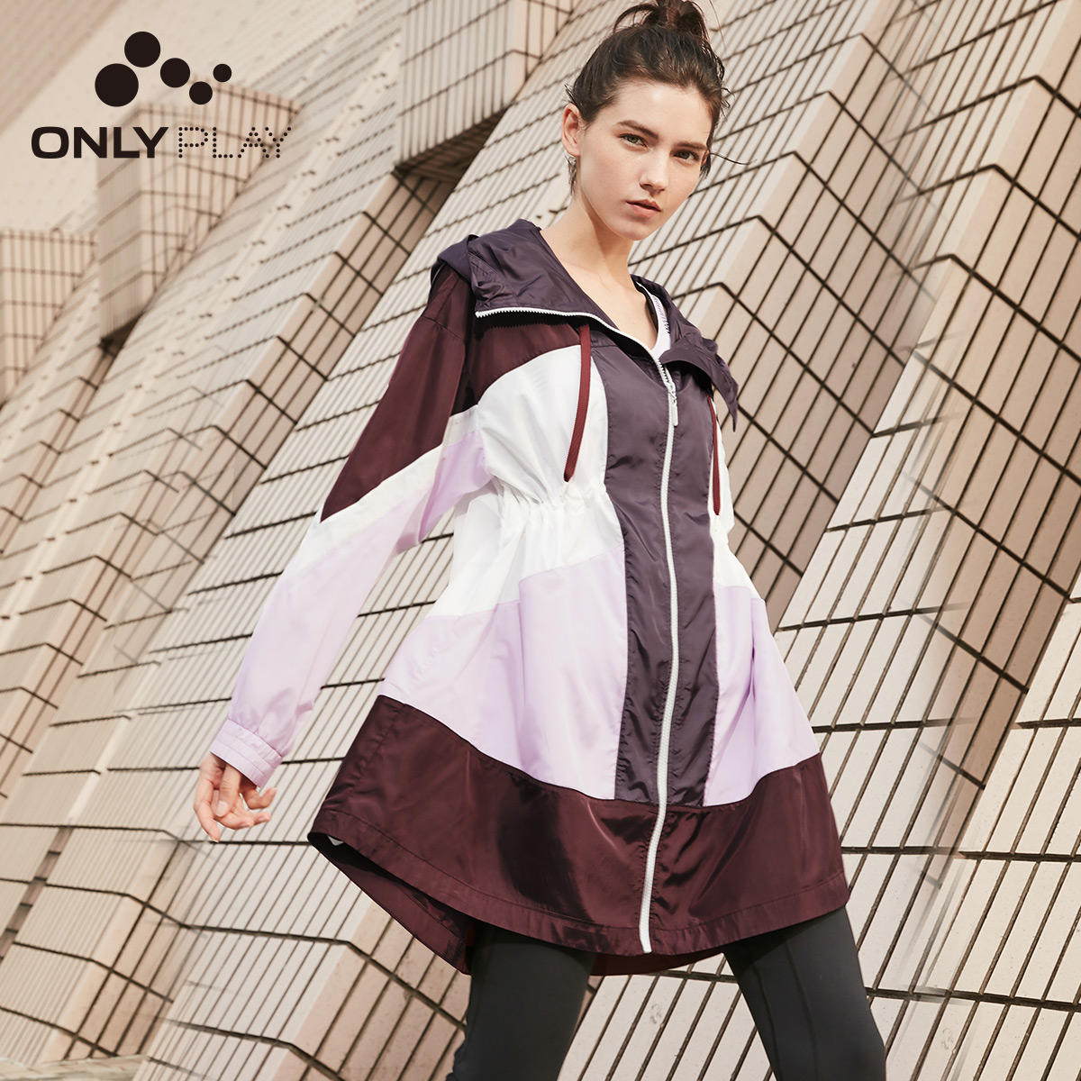 ONLY Women's Mid-length Hooded With Drawstring Cinched Waist Trench Coat | 119136578