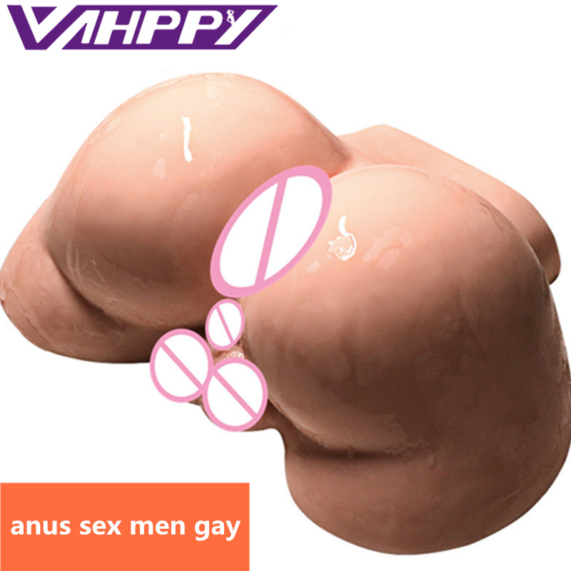 VAHPPY 2.5kg Male Silicone Big Ass 3D Real Anal Testis Sex doll Gay sextoy Male masturbator Sex Toys for Men Erotic toys JA309