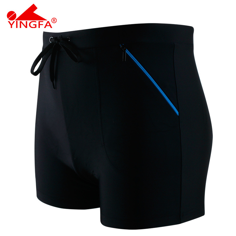 Swimming Trunks Classic Men Casual Bathing Suit Boxer Fashion Large Size Hot Springs Swimming Trunks Comfortable Chlorine-Resist