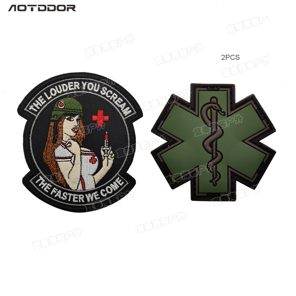 Army Tactical Morale Medic Doctor Nurse First Aid Patch Red White Cross EMT EMS