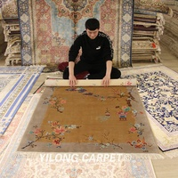 YILONG 4'x6' handmade chinese art decoration silk carpet exclusive classy rug