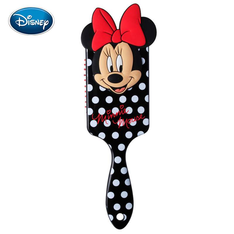 Disney Cartoon Girl Comb 3D Minnie Comb Anti-static Air Cushion Hair Care Brushes Baby Girls Dress Up Makeups Toy Gifts