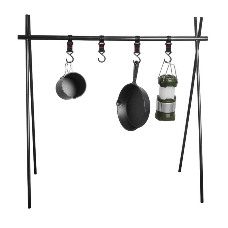 Aluminum Alloy Hanging Rack 8kg Bearing Weight Outdoor Camping Triangular Clothes Storage Rack