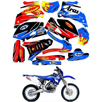 For YAMAHA WR250F 2007 - 2014 WR450F 2007 - 2011 Customized Number Graphics Backgrounds Stickers Kit Decal