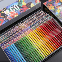 48/72/120/180 Colors Wood Oil Artist Colored Pencils Set for Drawing Sketch Coloring Books Gifts Art Supplie
