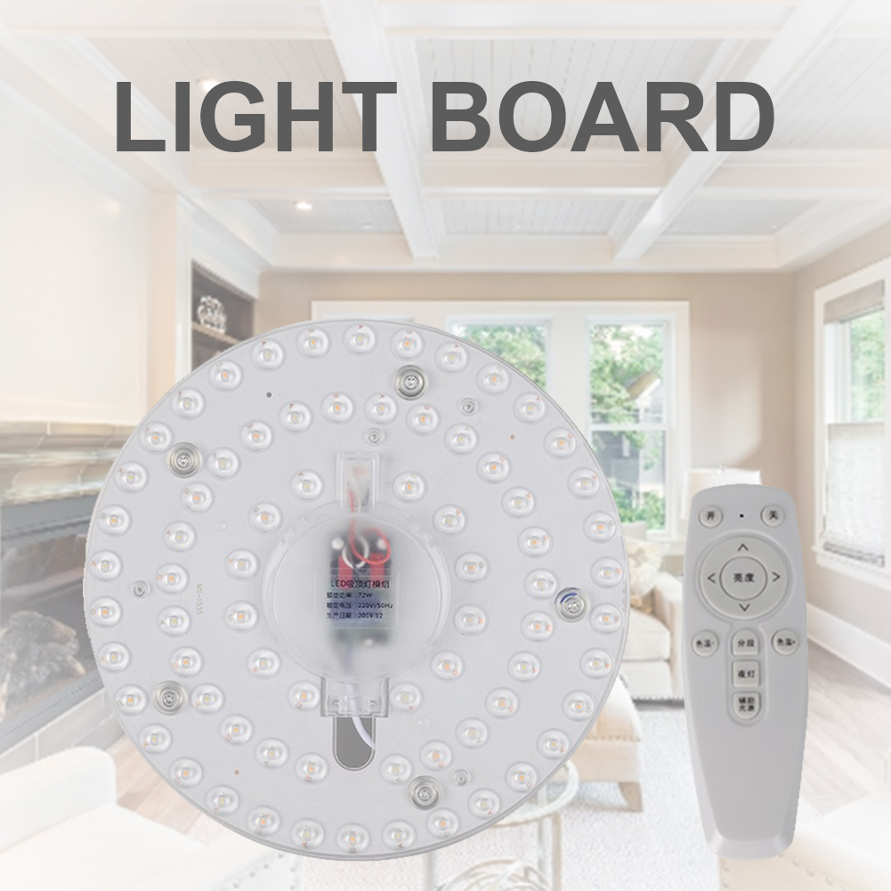 72W Ceiling Lamp LED Module Source Remote Control Dimmable Replace Ceiling Lighting Source For Living Room Dining Room