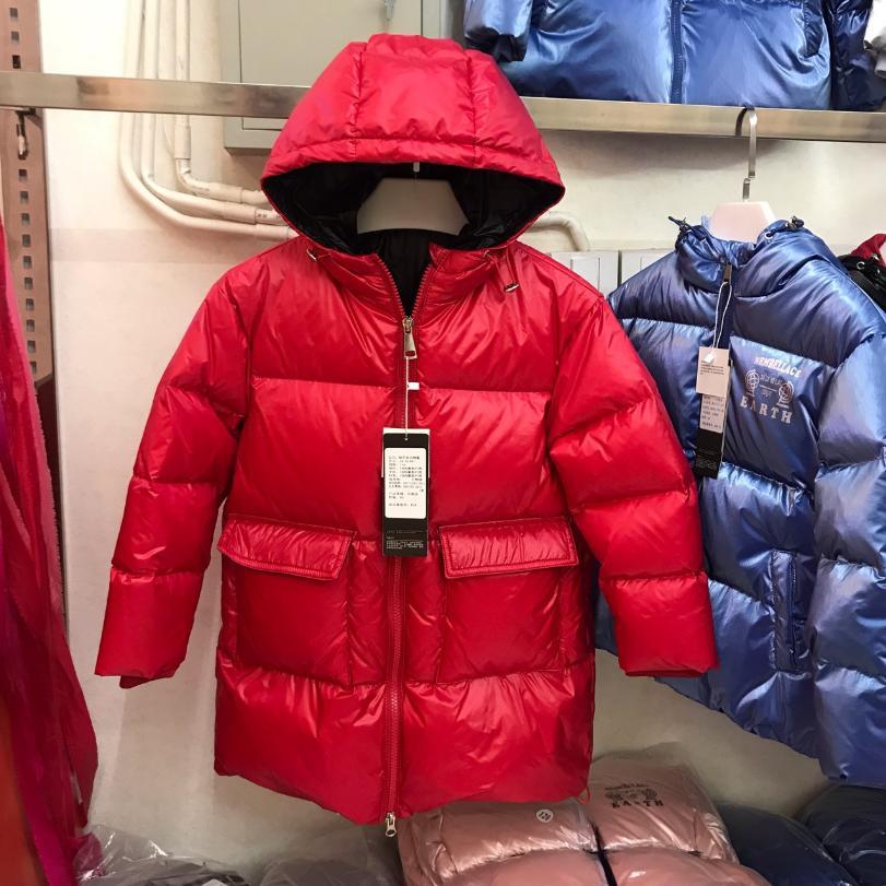 Chaqueta de talla grande para niños, nueva chaqueta gruesa, abrigada, a prueba de viento, abrigo de gran tamaño, chaqueta de plumón para niños, para invierno frío Y2237