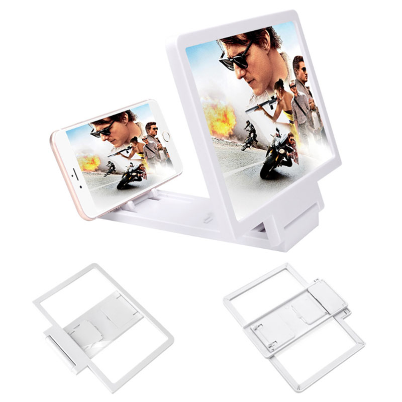 F1 3D Mobile Phone Screen Magnifier Amplifier Folding Design HD Video Magnifying Glass Watch Movies Smart Phone Bracket Holder
