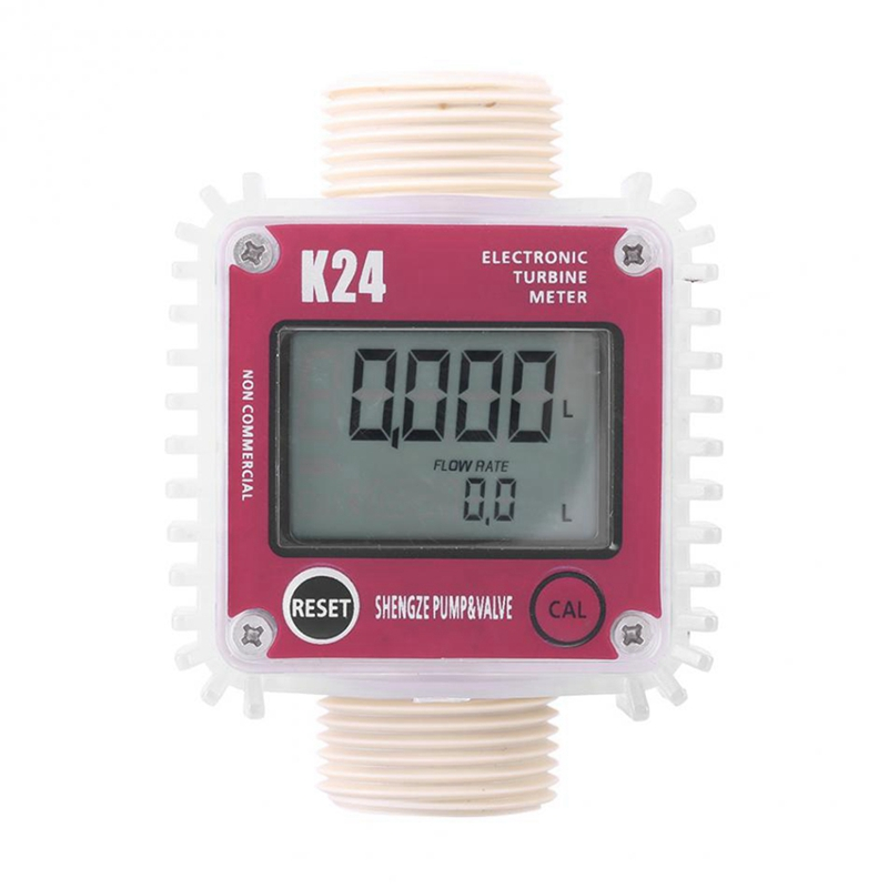 TOP! K24 Turbine Digital Oil Fuel Flow Meter Gauge For Chemicals Liquid Water|Flow Meters| |  - title=