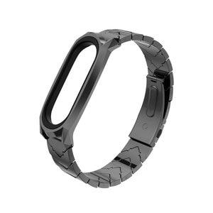 Image 4 - Metal Bracelet Mi Band 5 Strap NFC Global Version Correa Original for Xiaomi Mi Band 4 Smart Watch Mi Band 3 Stainless Wrist