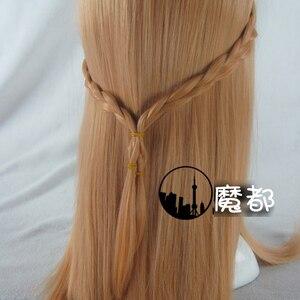 Image 2 - Anime Sword Art Online Yuuki Asuna długa peruka przebranie na karnawał SAO Yuki Asuna kobiety syntetyczne włosy impreza z okazji Halloween do odgrywania ról peruki