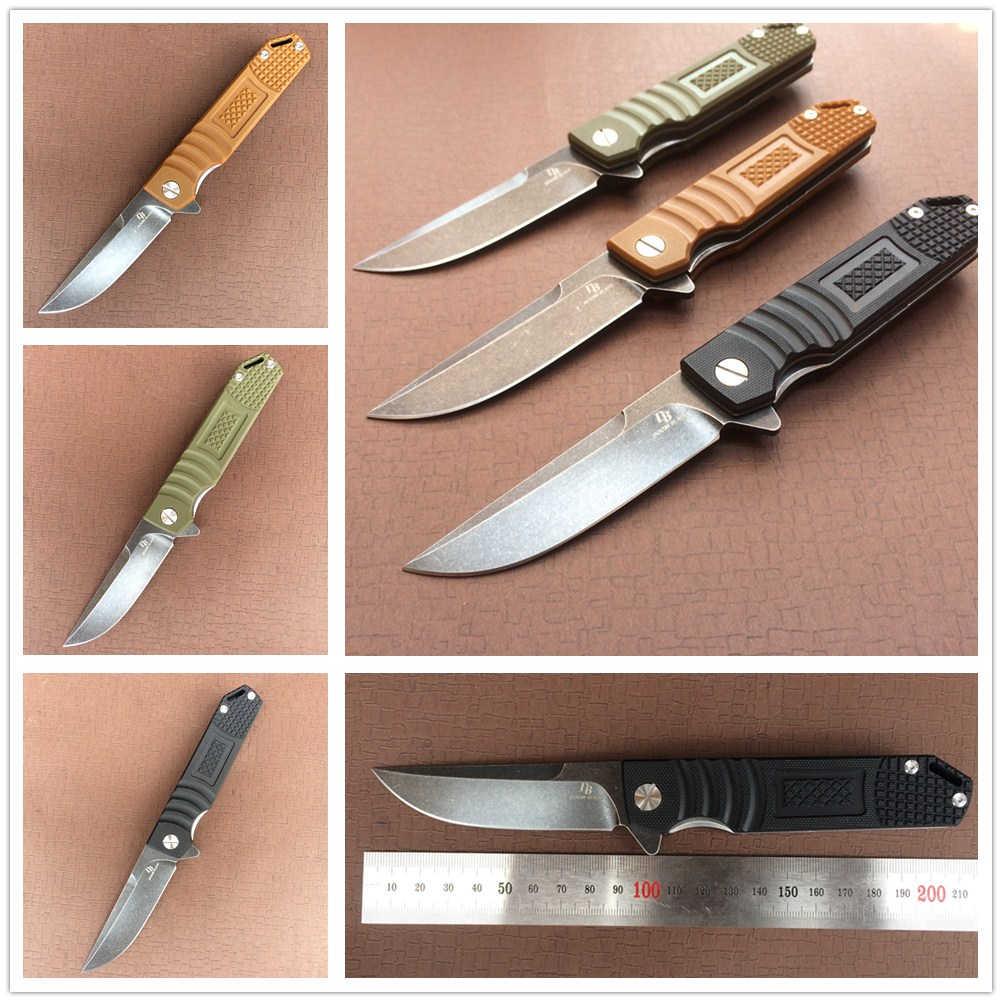 "7.9"" Knives 60-61HRC Folding Knife D2 Blade G10 Handle Ball Bearing Hunting Tactical Combat Pocket Knifes Camping EDC Tools"