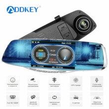 ADDKEY антирадар для России Speedcam Dash cam видео рекордер камера FHD 1080P Регистратор Автомобильный видеорегистратор, радар-детектор зеркало заднего вида