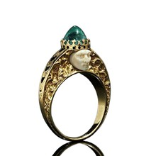 Green Stone Ring Classic Fashion Vintage Birthstone Rings For Women Fine Jewelry(China)