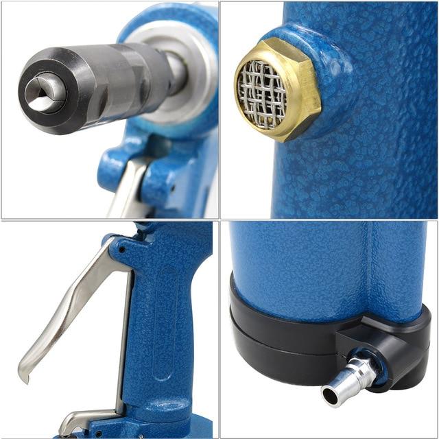 Pneumatic Air Hydraulic Rivet Gun Riveter Industrial Nail Riveting Tool Suitable for Aluminium/ Iron /Stainless Steel Nails 2