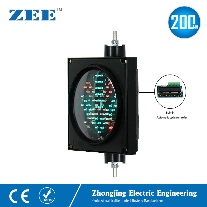 Auto Run Self Control 8 Inches 200mm LED Traffic Signal Light Parking Lot Traffic Light Entrance And Exit Toll Station Signals