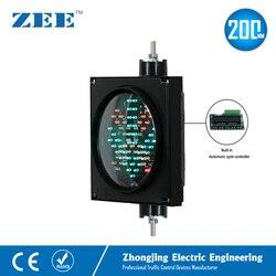 Ejecución automática autocontrol 8 pulgadas 200mm LED señal de tráfico luz estacionamiento semáforo entrada y salida señales de estación de peaje
