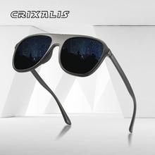 CRIXALIS Pilot Sunglasses Men Polarized Vintage Mirror
