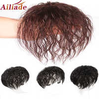 AILIADE-Peluca de pelo humano Real para mujer, Base de red de pelo transpirable, aumenta la cantidad de cabello en la parte superior de la cabeza