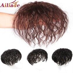 Парик AILIADE женский из натуральных человеческих волос, на основе дышащей сетки, увеличивает количество волос на верхней части головы