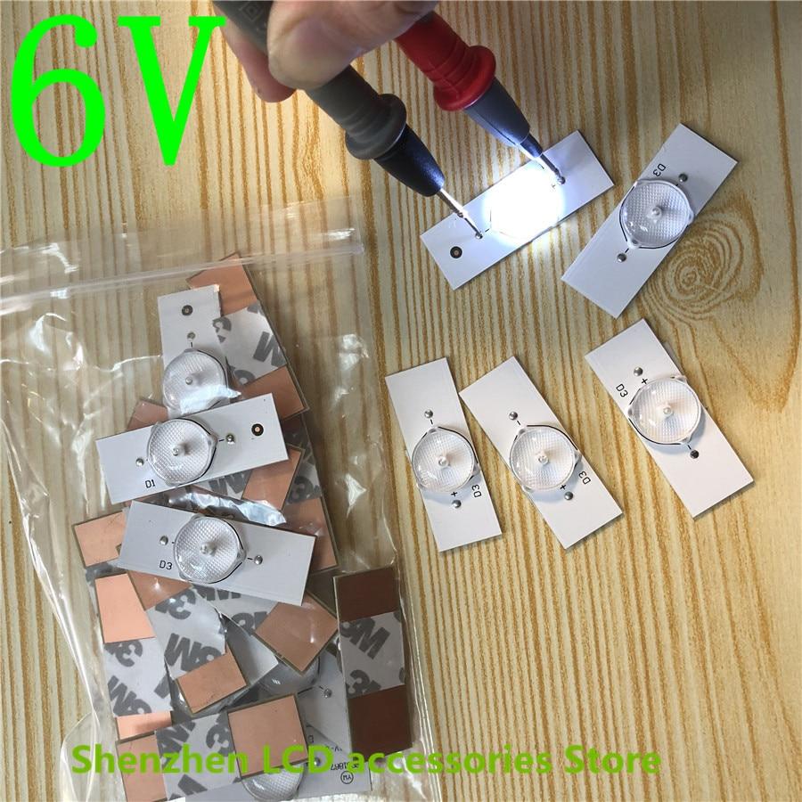 Led Strips 3v   6v   Bulbs Diodes 32-65 Inch Optical Lens Fliter Backlight    100%NEW