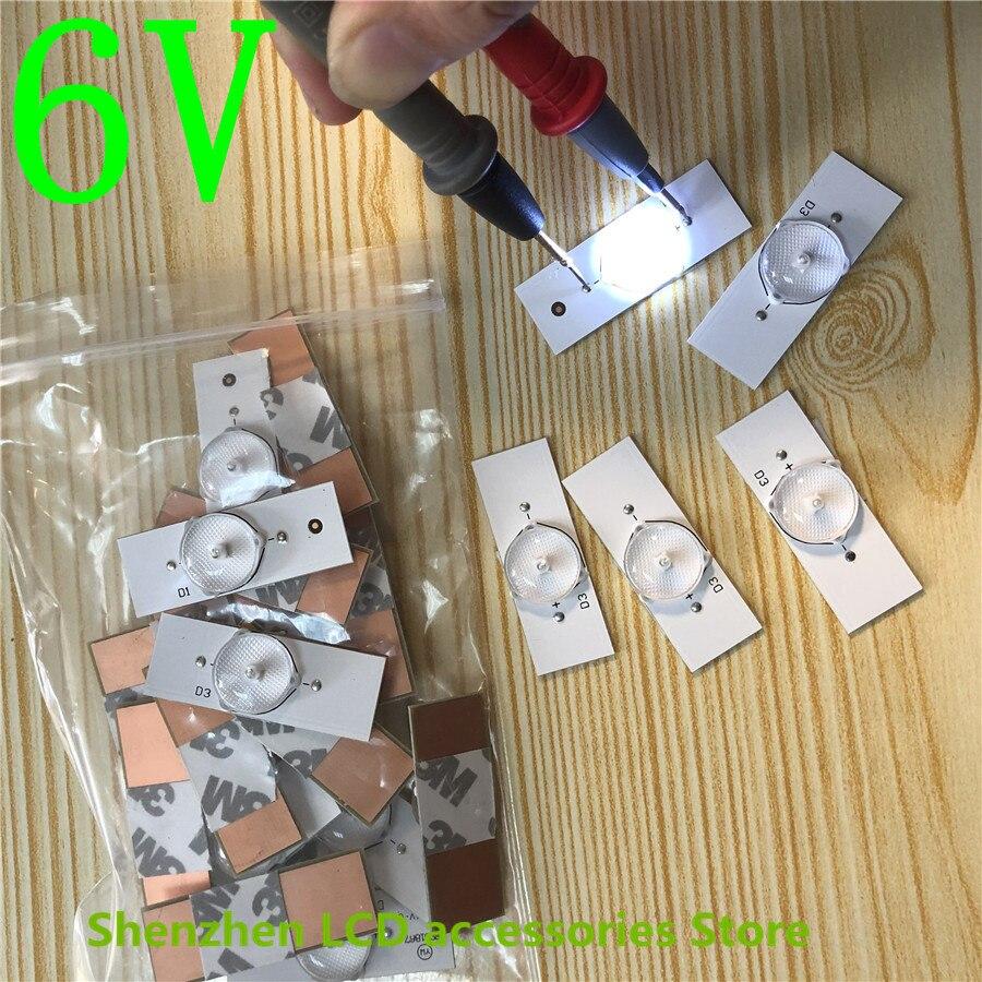 Led Strips 3v   6v   Bulbs Diodes 32-65 inch Optical Lens Fliter Backlight    100percentNEW