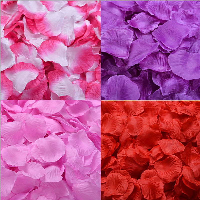 Mengsutang 17-32 Colors 500pcs / Lot 5*5cm Silk Rose Petals For Wedding Decoration Romantic Artificial Rose Flower 40 Colors