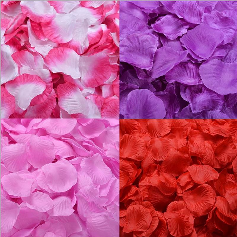 Mengsutang 17-32 Colors 500pcs / Lot 5*5cm Silk Rose Petals For Wedding Decoration Romantic Artificial Rose Flower 40 Colors