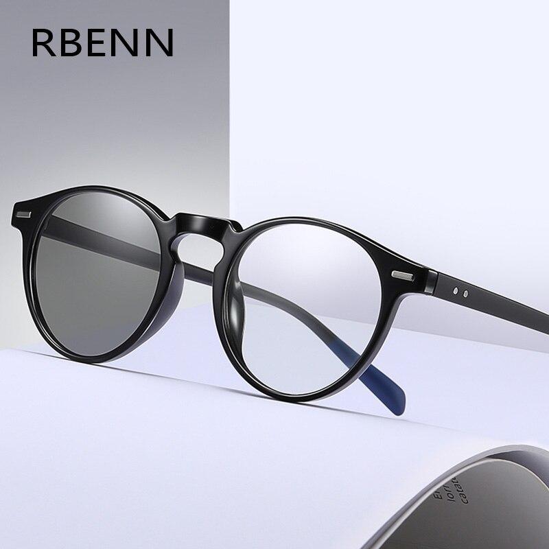 RBENN 2020 Novos Fotocromáticas Homens Óculos De Leitura Presbiopia Óculos Anti Computador de Luz Azul Mudança de Cor Óculos + 0.75 1.75
