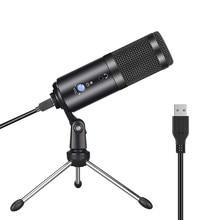 Microfone profissional usb condensador microfones para computador portátil mac gravação de computador estúdio streaming jogos karaoke vídeos pc