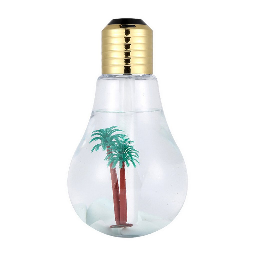 Bulb Humidifier 400ml USB Air Humidifier Colorful LED Night Lamp Essential Oil Diffuser For Home Office