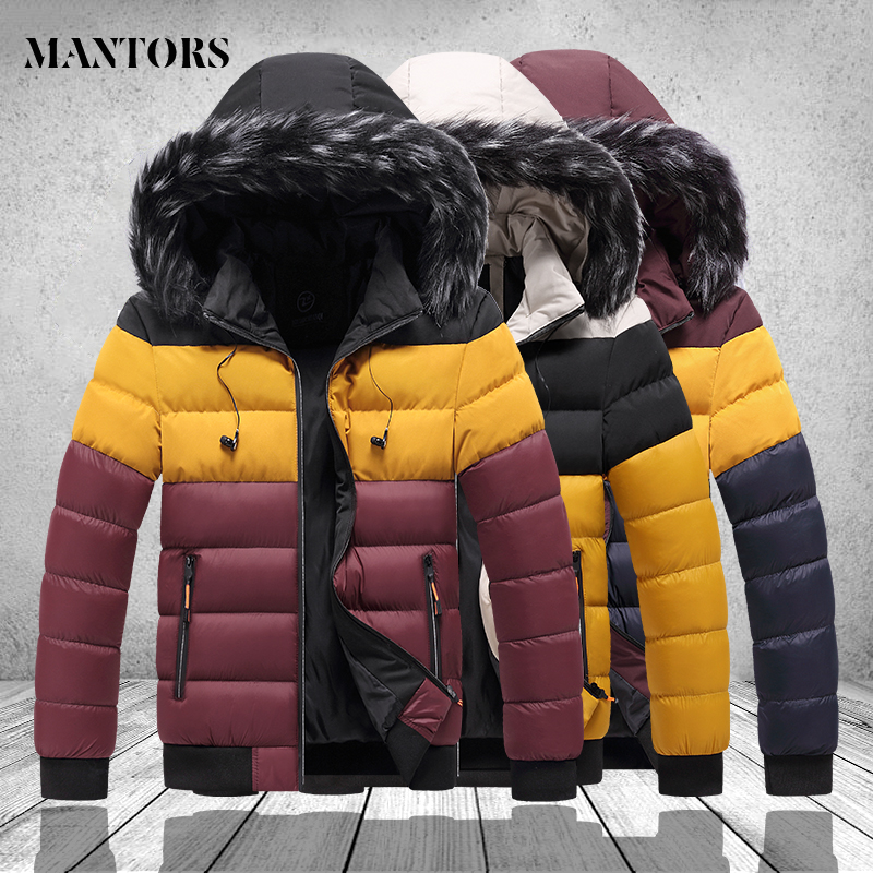 Winter Mens Bomber Jackets Casual Male Outwear Big Pocket Thick Warm Windbreaker Mens Outdooor Fur Hooed Coats Brand Clothing