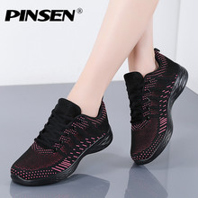 PINSEN 2020 Fashion Sneakers Women Flats Shoes