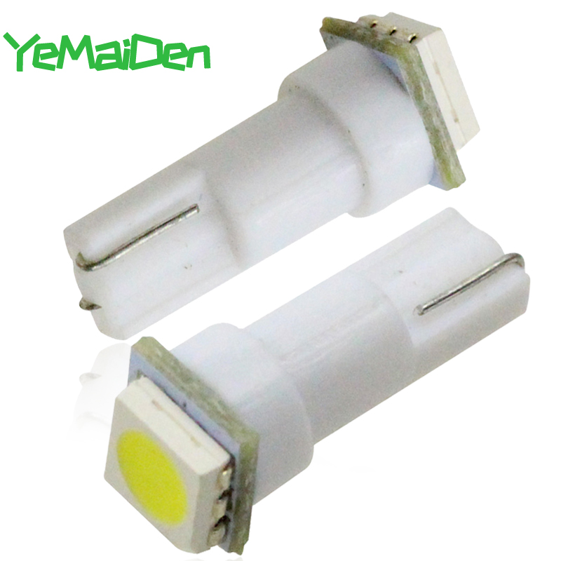 <font><b>10</b></font> pieces T5 LED Bulb <font><b>5050</b></font> SMD Car Dashboard Instrument Light Auto Wedge Interior Lamp Instrument Panel Lamp White Red Blue image
