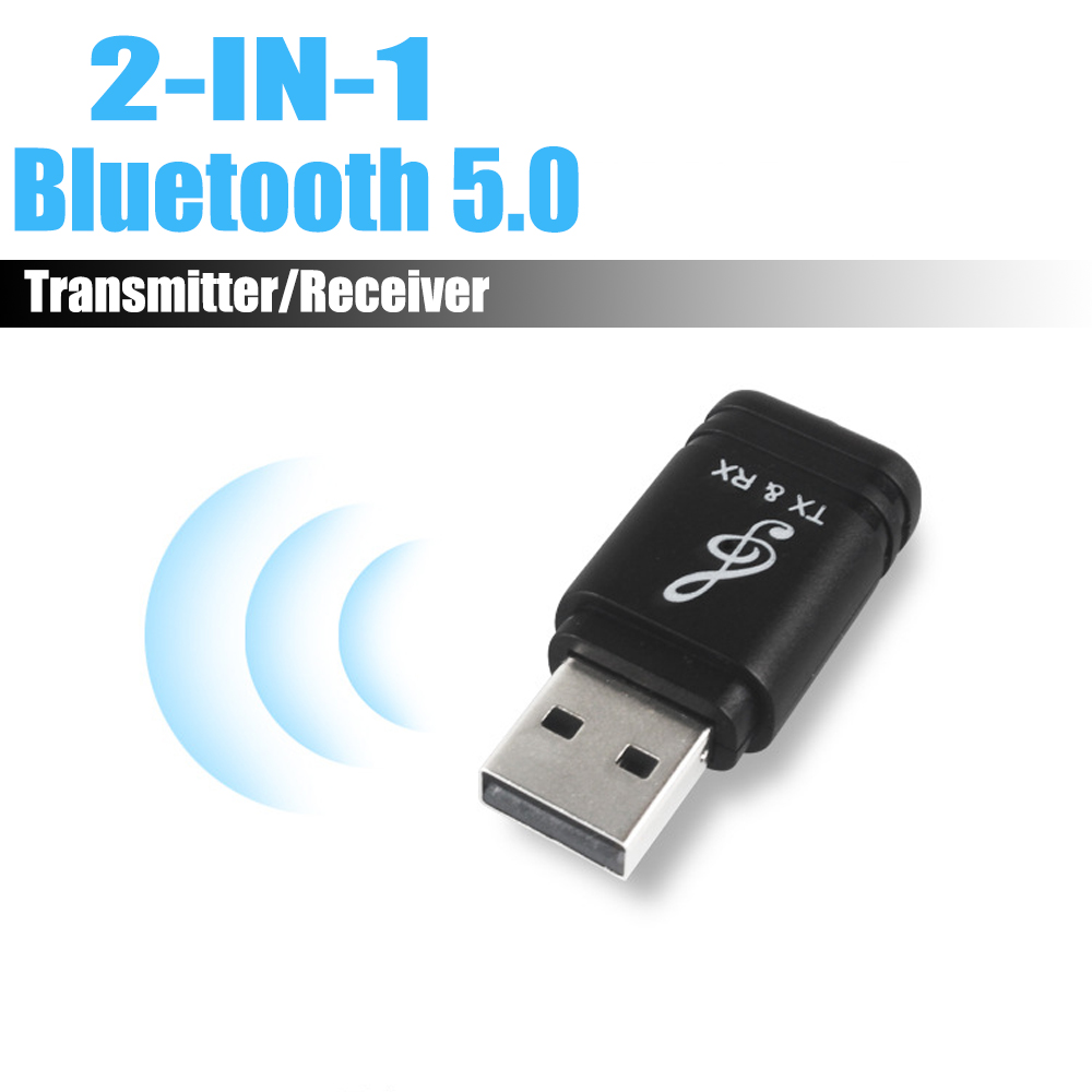 Universal USB Bluetooth Transmitter Receiver 2 In 1 Bluetooth 5.0 Dongle 3.5mm AUX For TV PC Wireless Audio Bluetooth Adapter