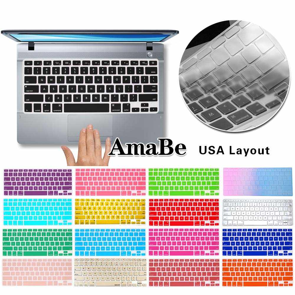 Laptop Keyboard Covers Voor Macbook Air 13 Pro 15 Inch A1342 A1466 A1502 A1398 Ons Silicon Toetsenbord Cover Kleur Beschermende film