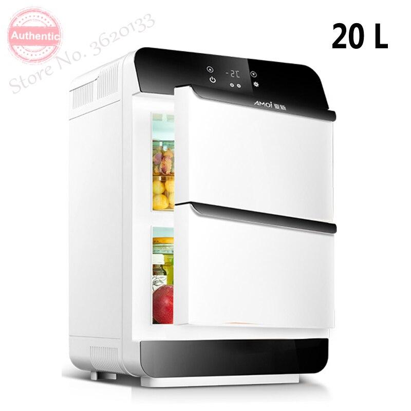 20L Refrigerator Car Refrigerator Mini Small Home Dormitory Dormitory Car Dual-use Student Double-door Small Refrigera