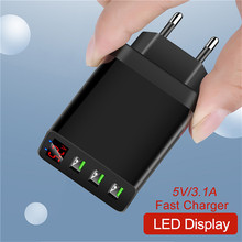 Quick Charger Digital Display USB Charger For Phone Adapter