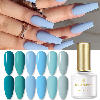 BORN PRETTY 6ml Blue Color Gel Nail Polish Soak off UV LED UV Hybrid Gel Lak varnish Nail  Nail Art Permanent Gel Varnish недорого