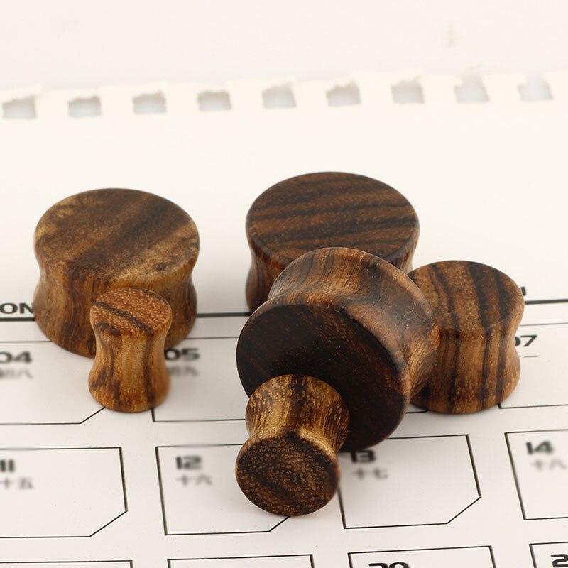 Распродажа, красно-коричневые деревянные серьги-растяжки Для Пирсинга Ушей, ювелирные изделия для пирсинга, деревянные серьги-растяжки уше...