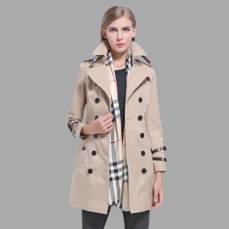 Spring Auttumn Fashion Women Trech Coat Female High Qulaty Cotton Coat Ladies Loose Slim Windbreaker Female Solid Casual Coat