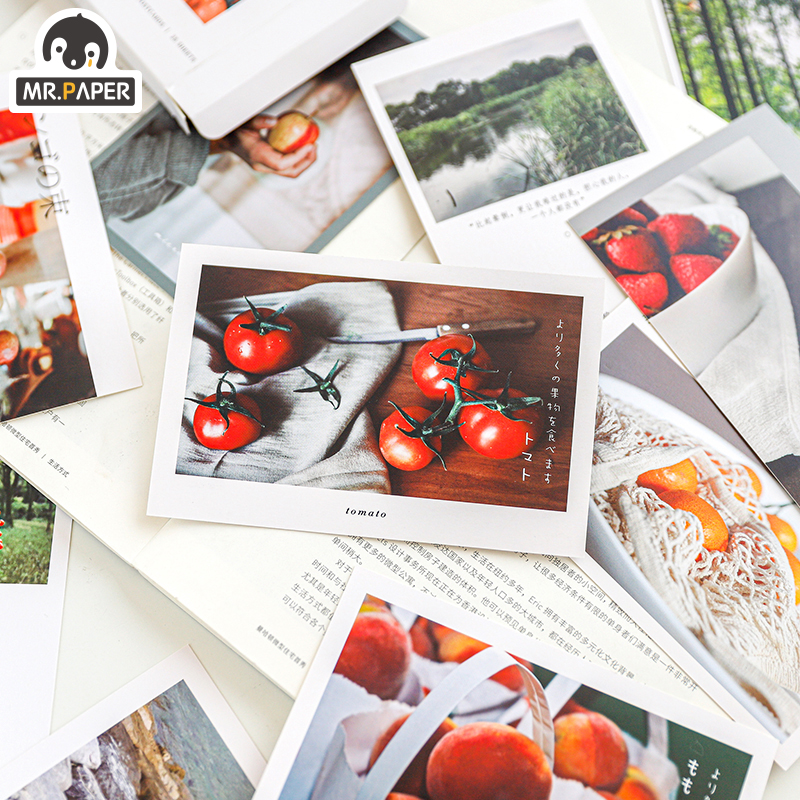 Mr.Paper 25pcs/set Life Album Poetry Postcards Letters Photo Memory Set  Japanese Creative Ins Writing Greeting Gift Postcards 2