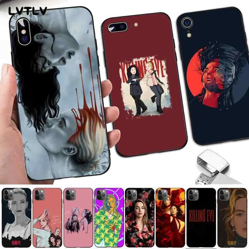 LVTLV 인기 TV 시리즈 킬링 이브 DIY Painted Bling Phone Case for iPhone 8 7 6 6S Plus X 5 5S SE 2020 XR 11 pro XS MAX