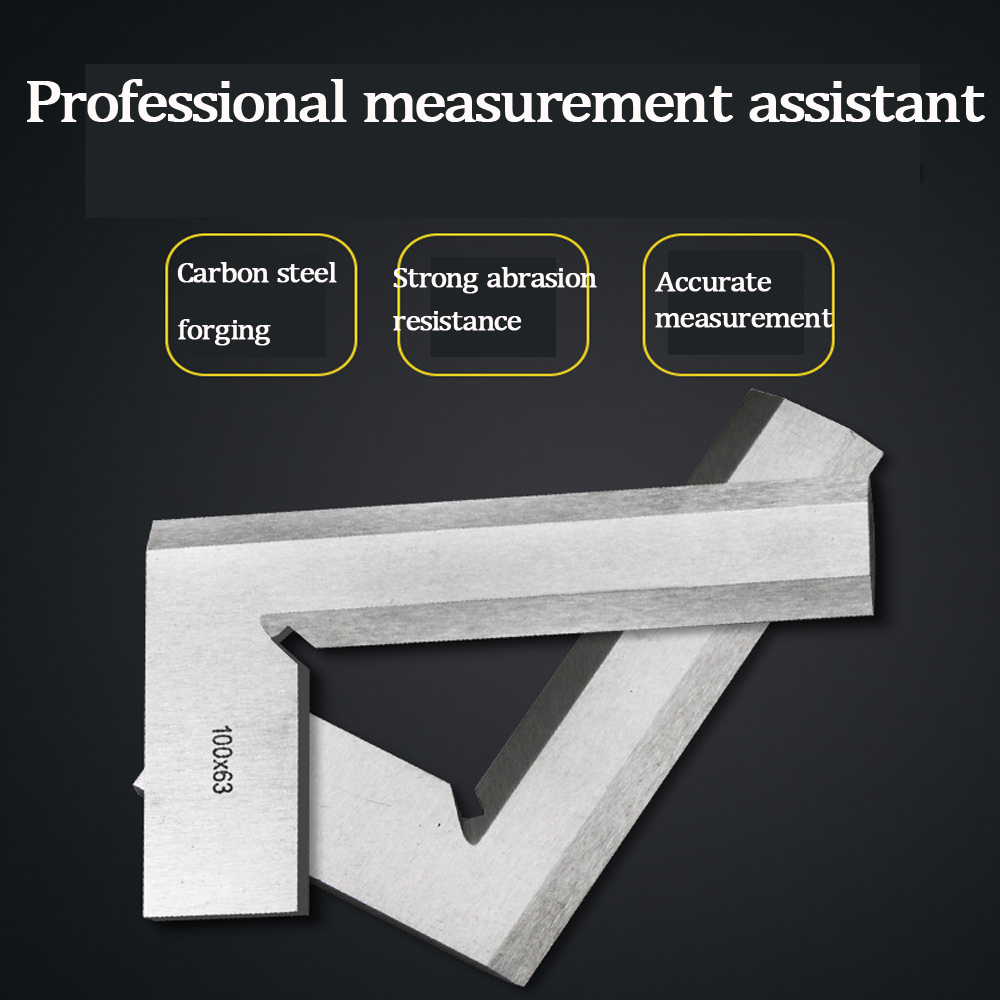 Machinist Precision Knife Edge Square Ruler 90 Degree Right Angle Ruler Engineer Measuring Tool 100 * 63