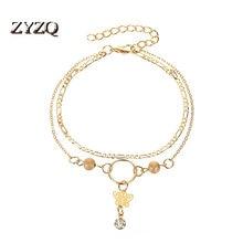 ZYZQ-pulsera de mariposa hueca con colgante de borla de Súper Hada, pulsera de viento frío Ins para mujer