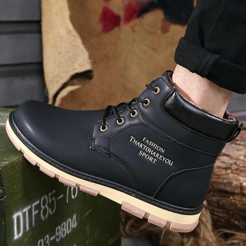 ファッションツーリング男性の靴高品質大サイズの冬の靴男性靴屋外綿 Zapatos デやつ Bota Ş hombre