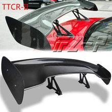 Asa de corrida sedan universal comum asas acessórios do carro cauda exterior guarnição 145cm abs spoilers gt fibra carbono cauda asa