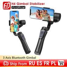 Cardan h4 3 eixos de carregamento usb suporte registro vídeo universal direção ajustável handheld cardan smartphone estabilizador vlog